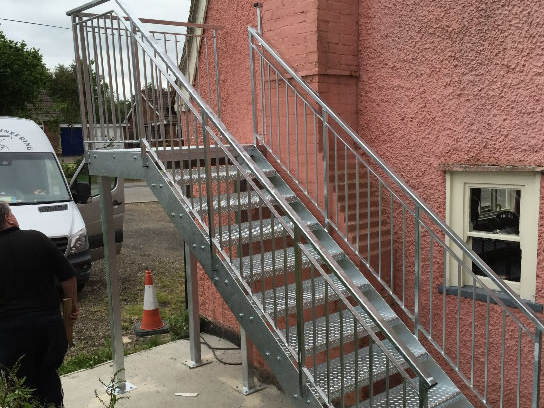 External staircase for flat access